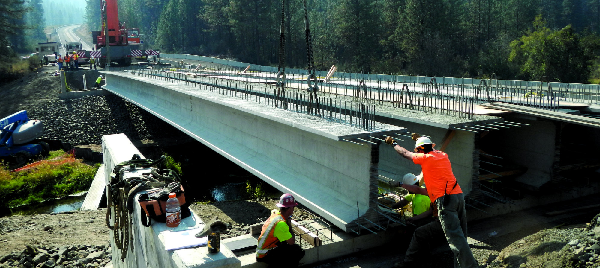 Precast Bridges 136 Foot Super Girder Used On Bridge Project Concrete