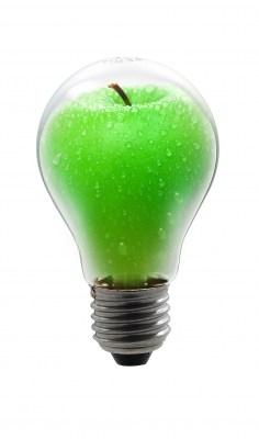 Bombilla manzana
