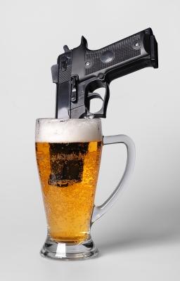 Cerveza y pistola