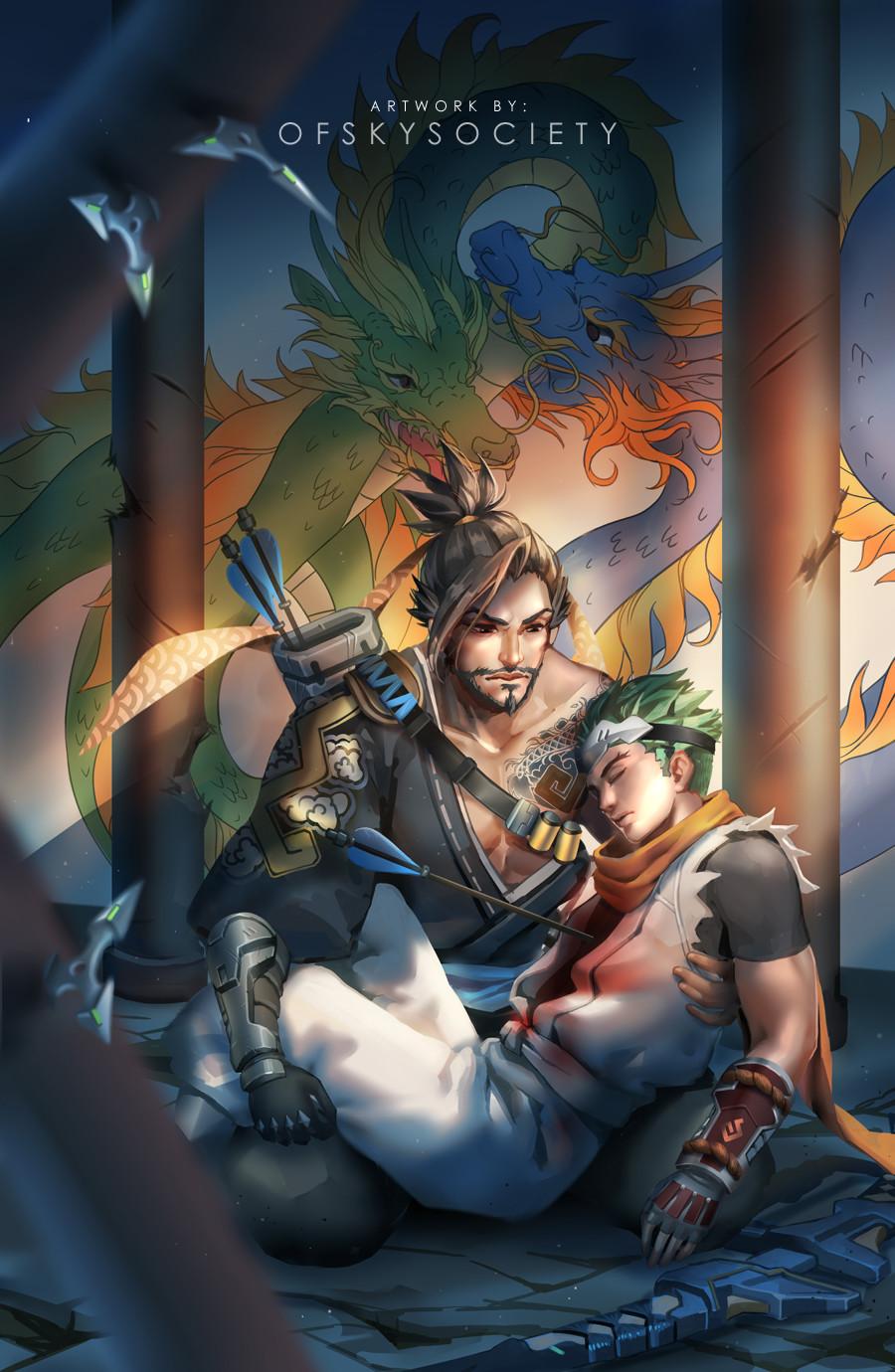 Genji Wallpaper Iphone Artstation Fan Art Jing Amp Chae