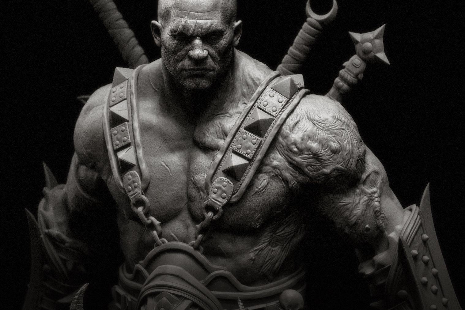 God Of War D Artstation Barbarian Raf Grassetti