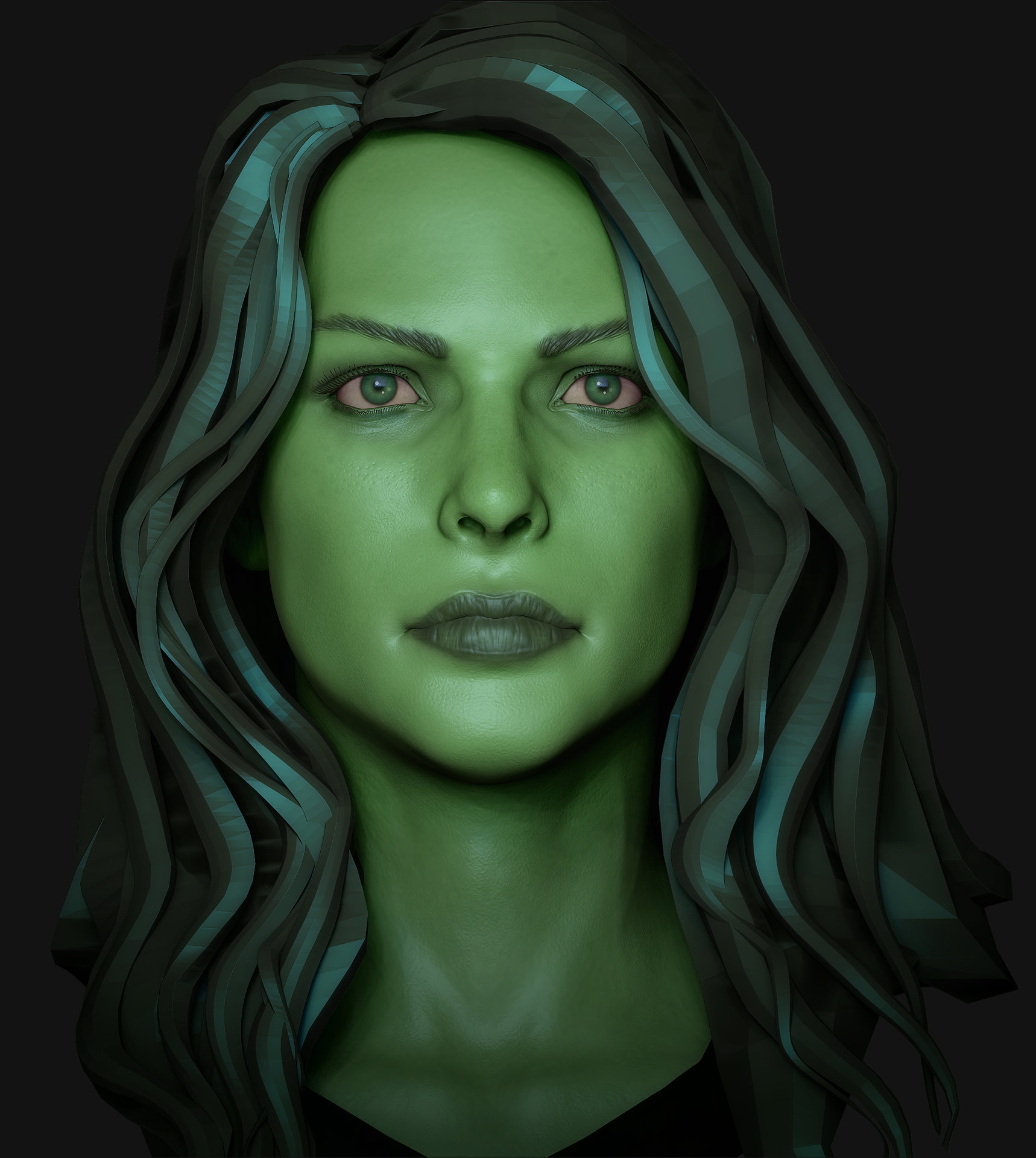 Girl Makeup Station Artstation She Hulk Michael Gonsalves