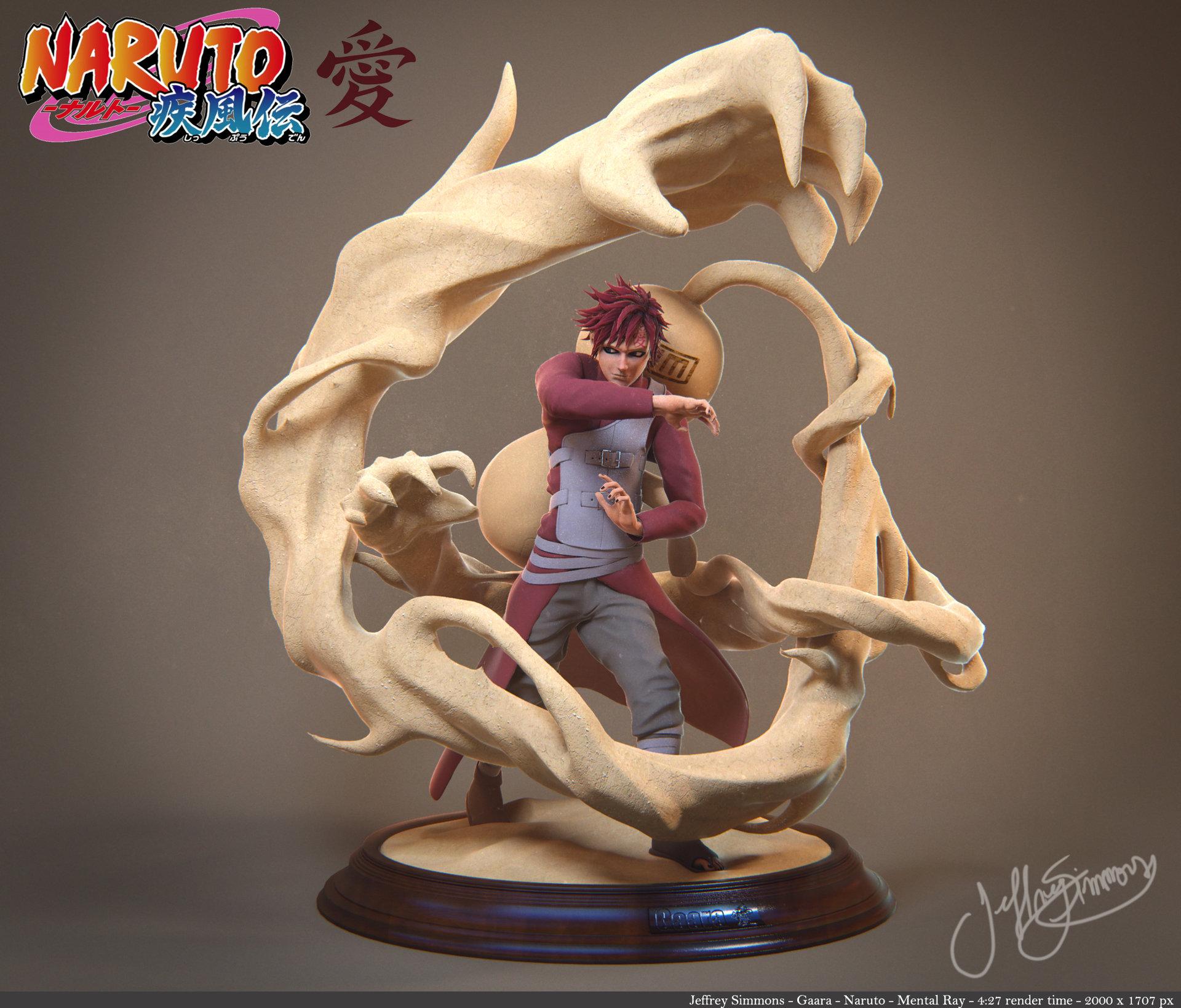 Akatsuki Hd Live Wallpaper Artstation Gaara Fanart Naruto Jeff Simmons