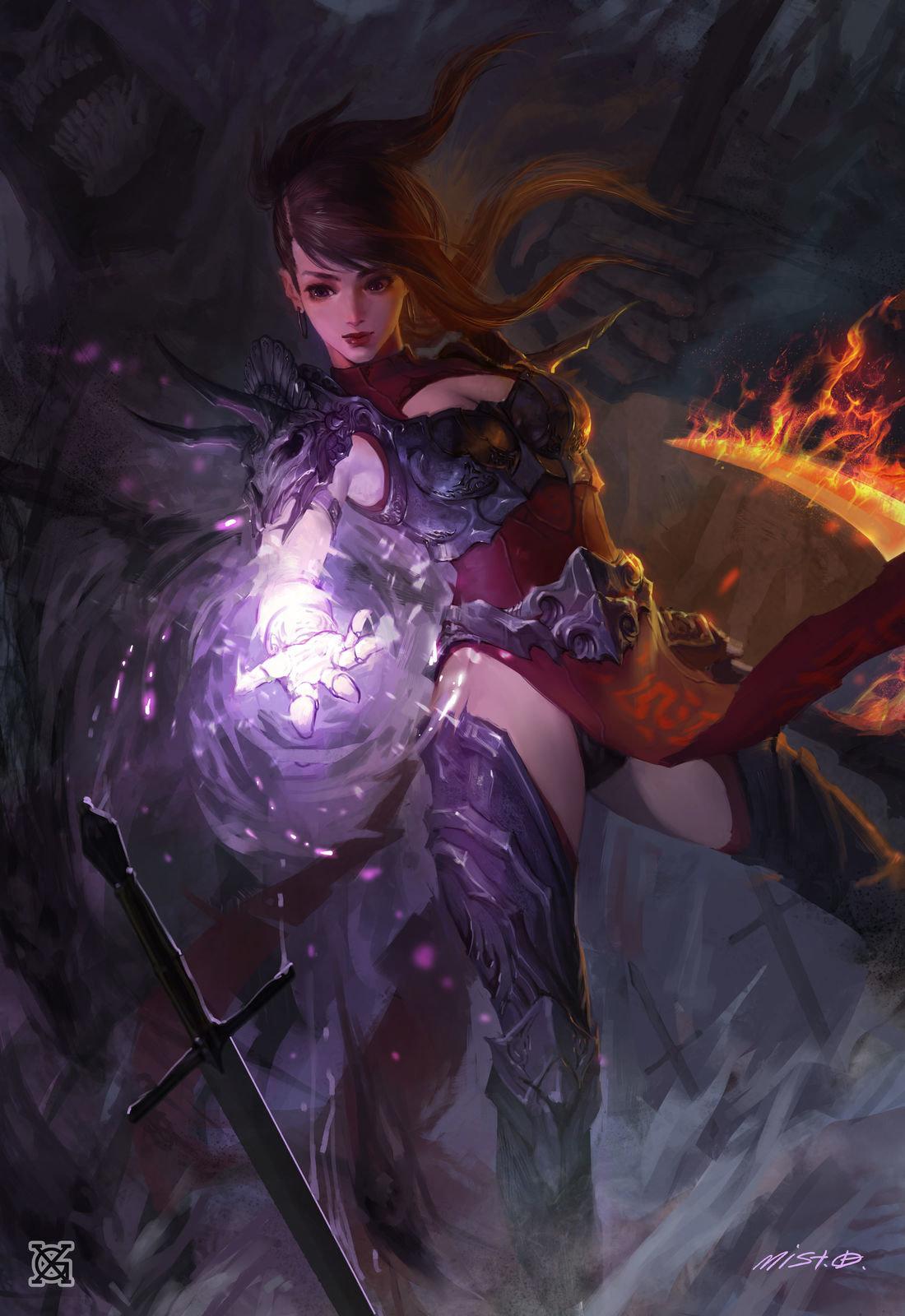 Badass Anime Girl Wallpaper Artstation Death Girl Mist Xg