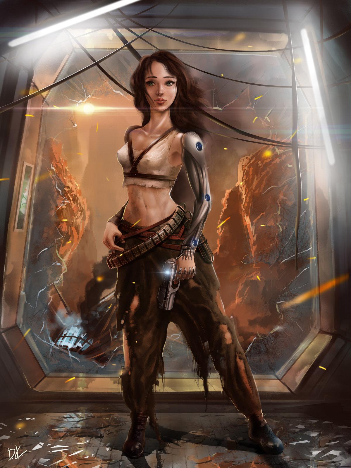 Anime Sniper Girl Wallpaper Hd Artstation Sci Fi Female Character Concept Art Dmitry