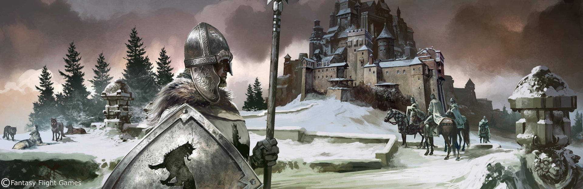 Ice Wolf 3d Wallpaper Artstation Game Of Thrones House Stark Tomasz Jedruszek