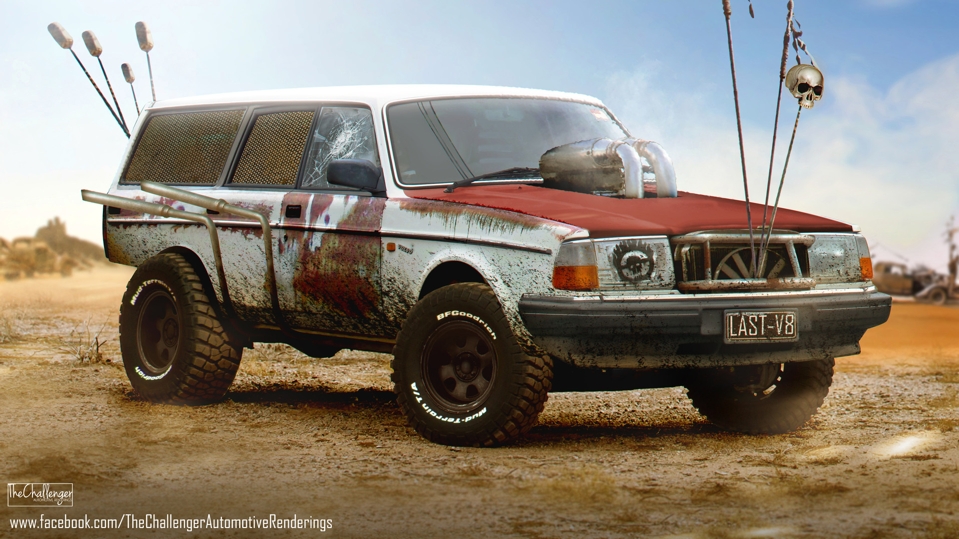 Mighty Car Mods Wallpaper Artstation Volvo 240 Wagon Mad Max Fury Road Inspired