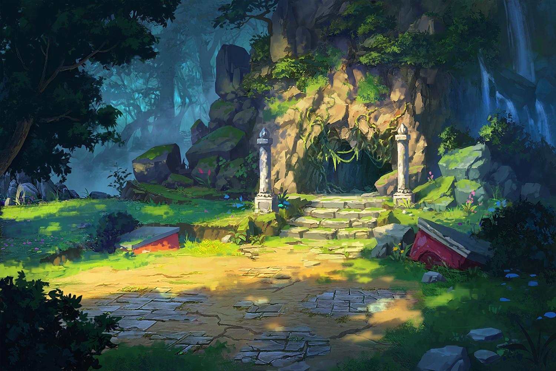 Animated Jungle Wallpaper Artstation A Practice Dan Zhao