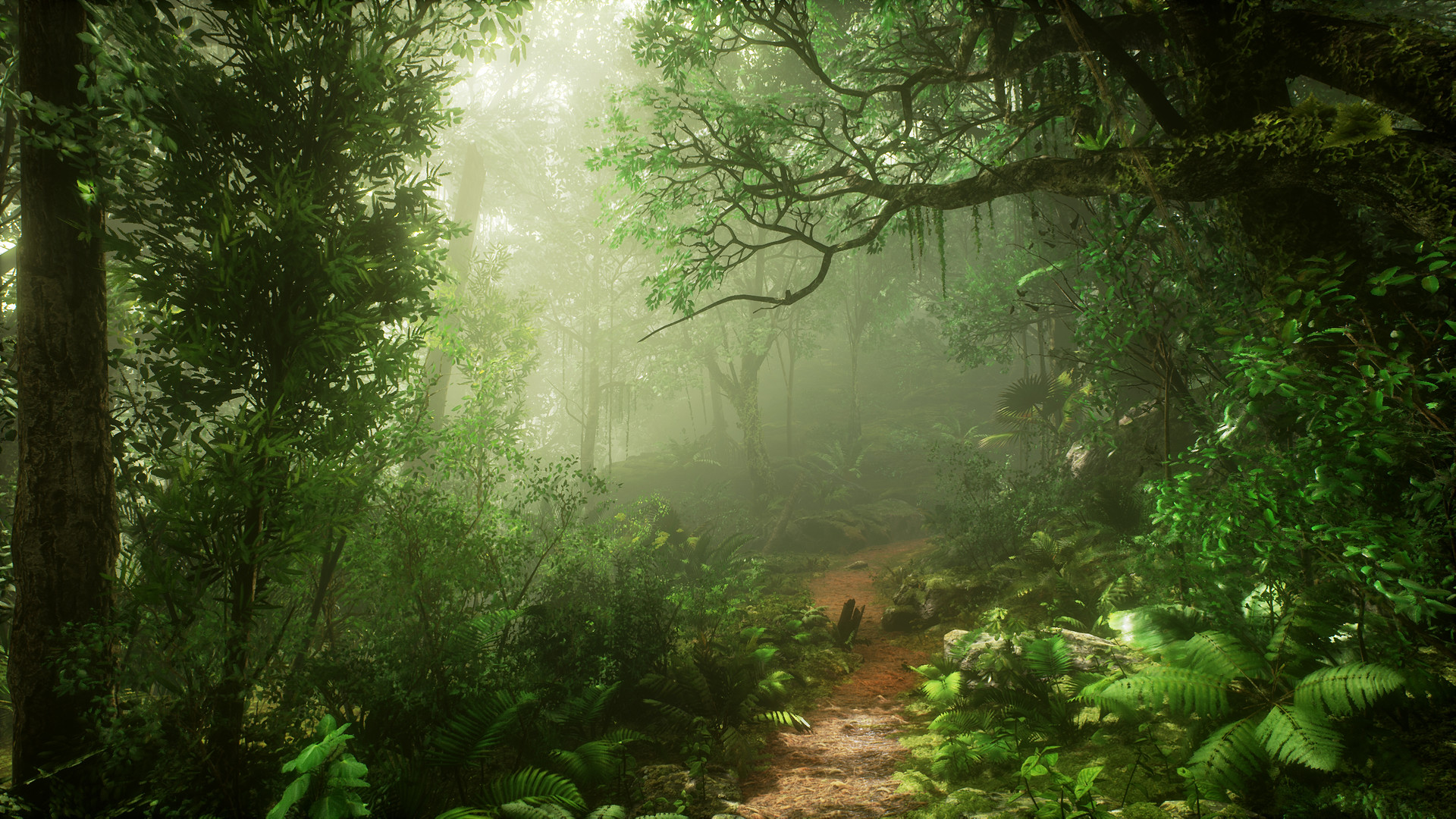 Waterfall Desktop Wallpaper Hd Emre Switzer Unreal Engine 4 Jungle Test