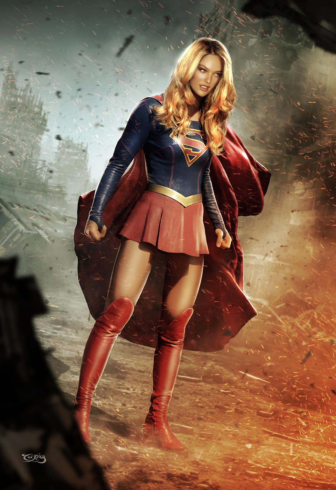 Marvel Power Girl Wallpaper Artstation Kara Jor El Tariq Raheem