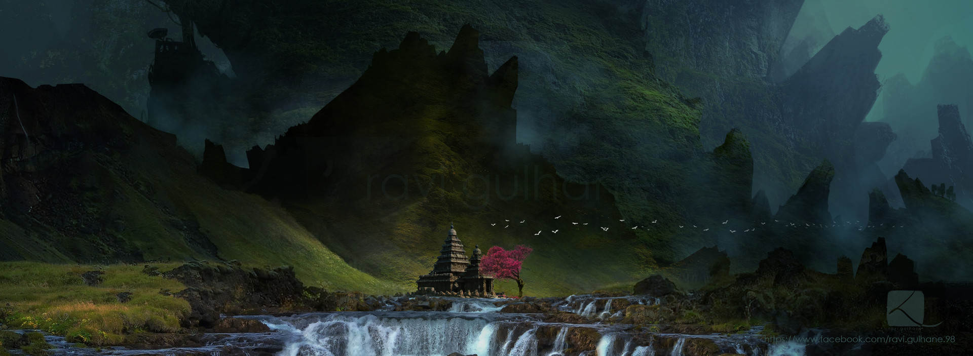 Shiv Shankar Hd Wallpaper Artstation Mysterious Island Ruined Temple Concept Art