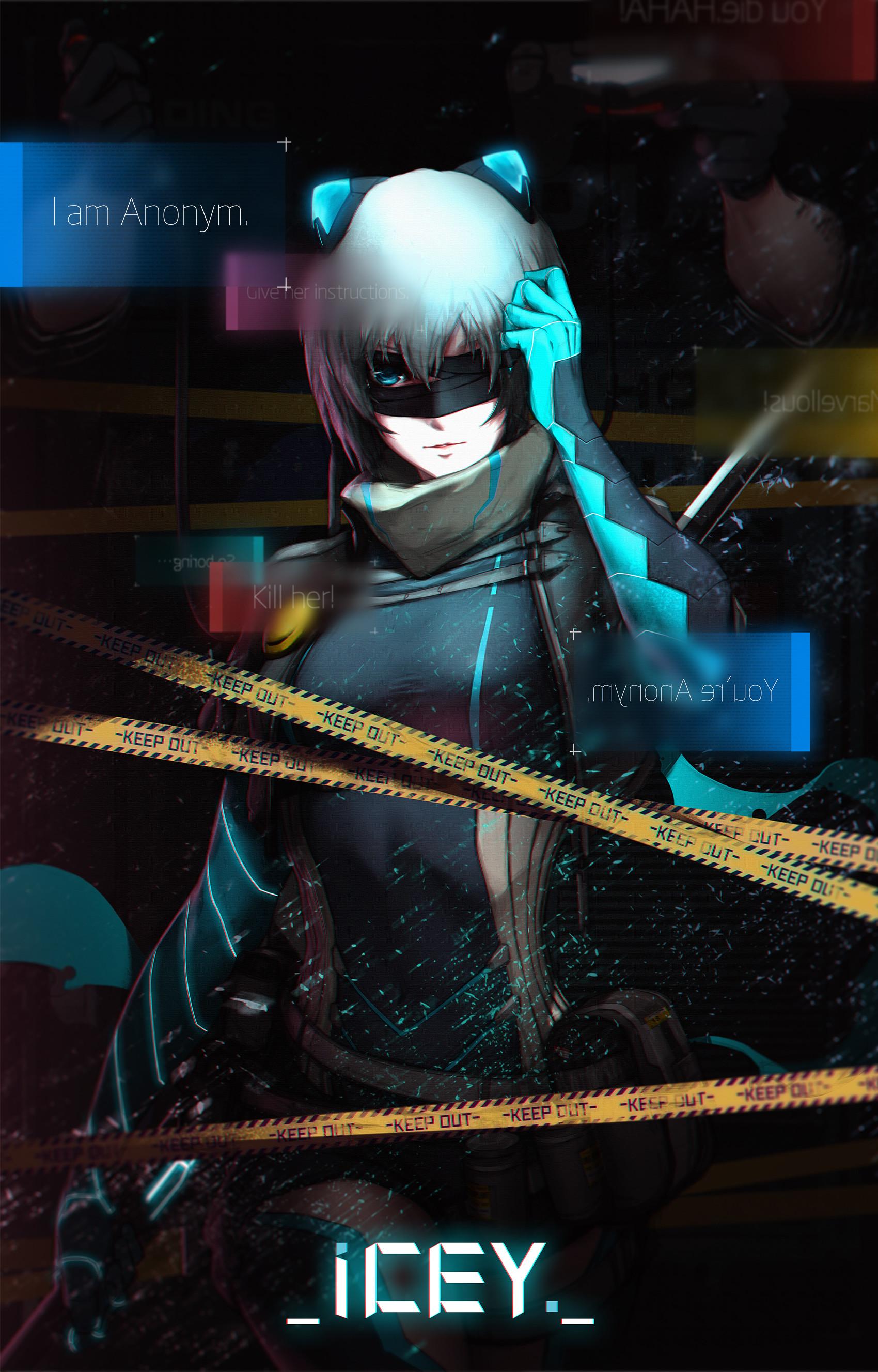 Cyberpunk Girl Wallpaper Artstation Icey(anonymous Network Tooo T