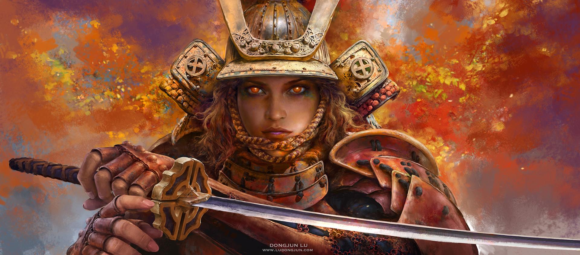 1080p Girl Wallpaper Artstation Samurai Girl Russell Dongjun Lu