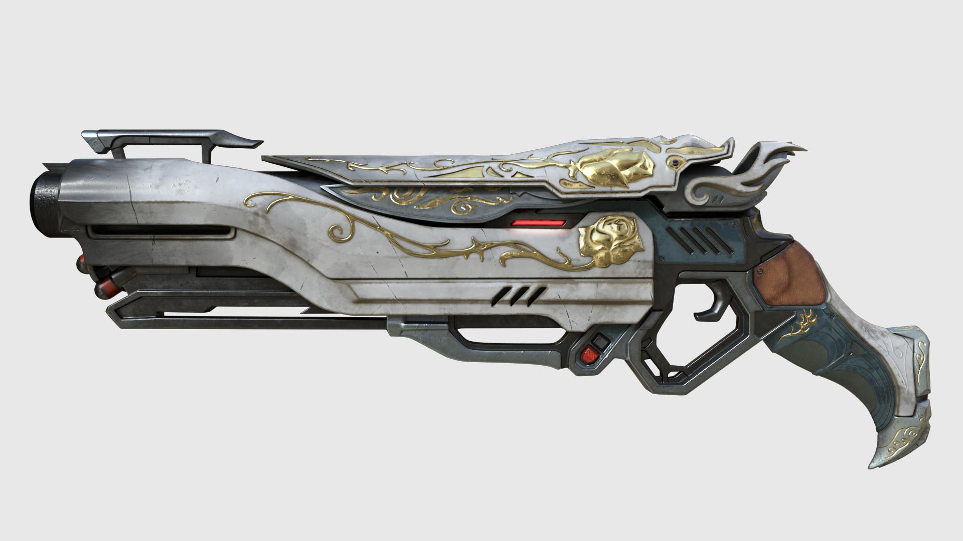 Gun Wallpaper 3d Sheli Ben Yair Reaper S Gun Overwatch