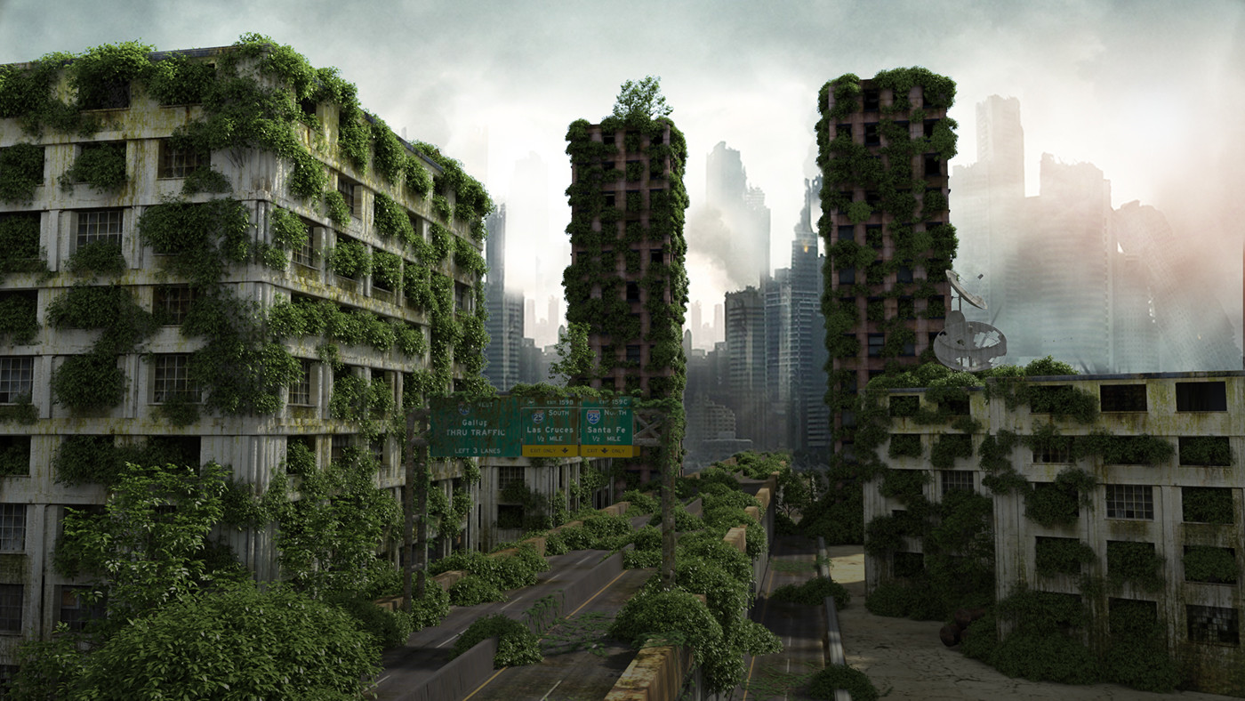 Green City 3d Wallpaper Alex Chun Post Apocalyptic City