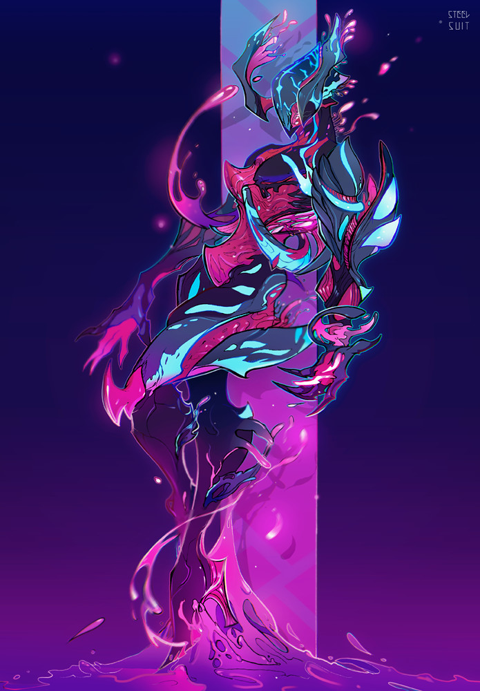 Gravity Falls Wallpaper Fan Art Steel Suit Warframe Neon Nidus