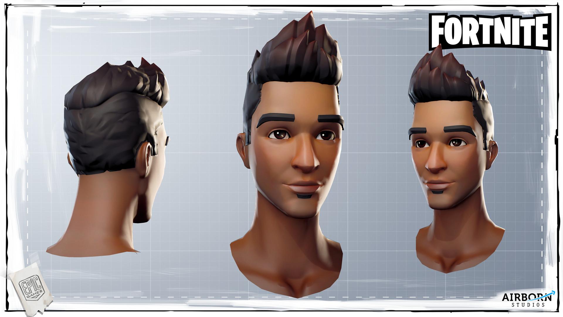 Pistol 3d Wallpaper Airborn Studios Fortnite Character Head Batch 05