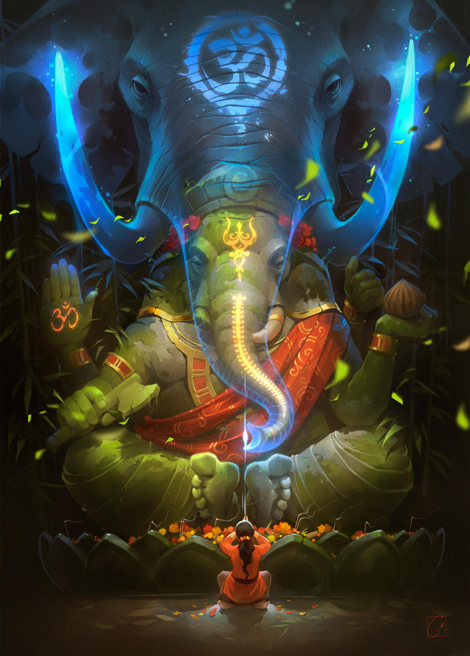 Krishna And Radha 3d Wallpaper Artstation Ganesha Alexandra Gaudibuendia Khitrova
