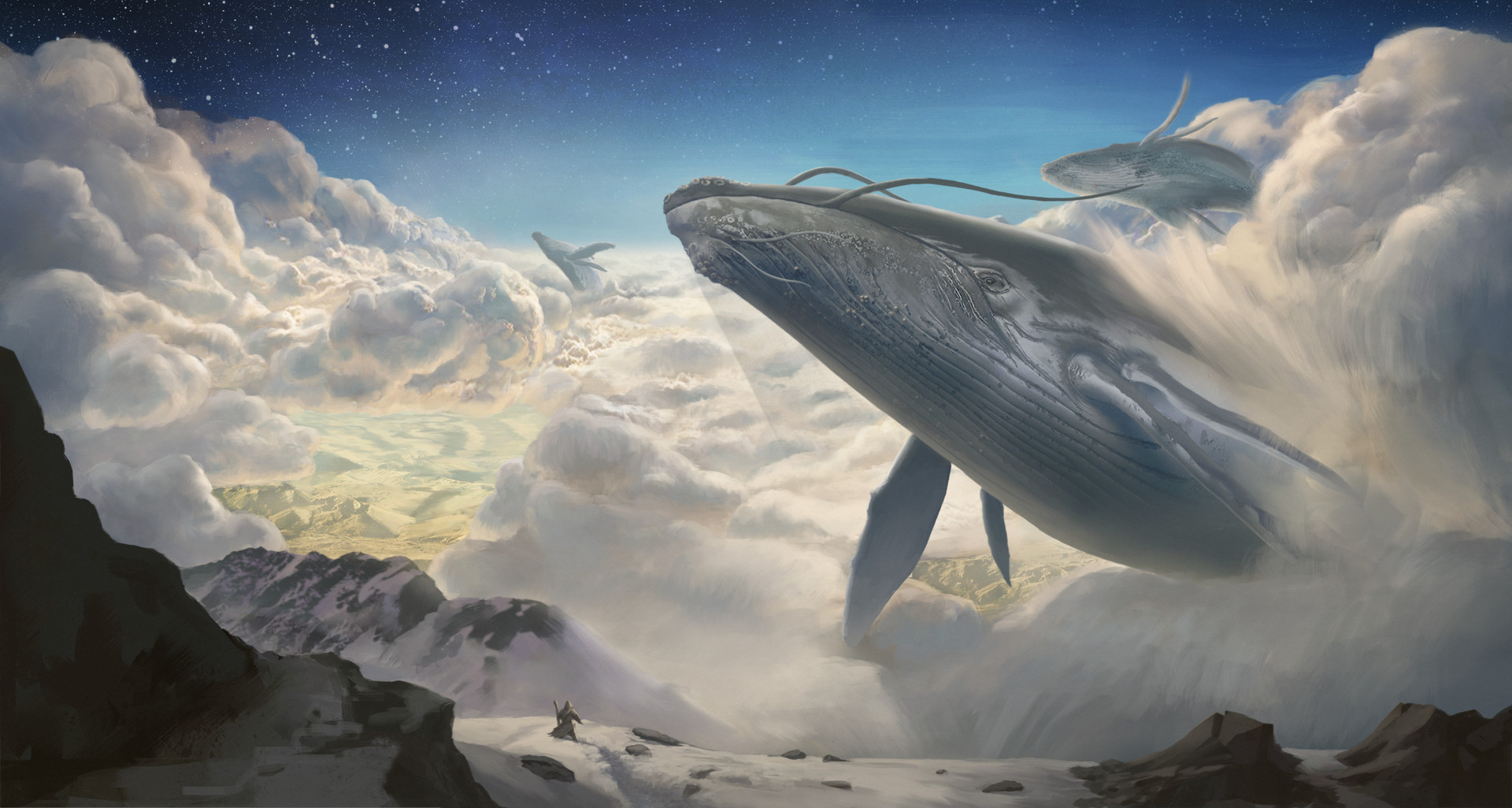 Imaginary Wallpapers Hd Flying Whales By Sampo Jumisko Imaginaryleviathans