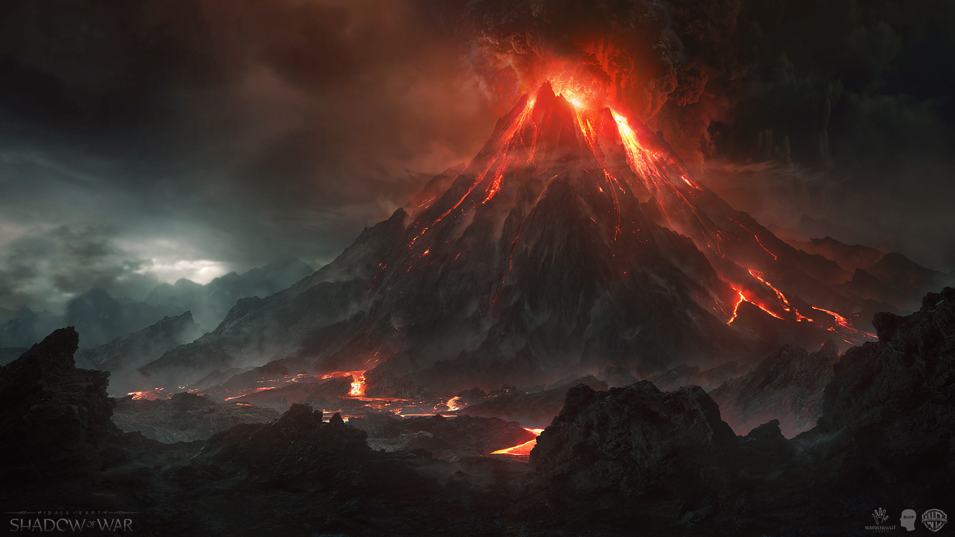 Wallpaper Hd Lord Of The Rings Wardenlight Studio Shadow Of War Cinematic Mount Doom