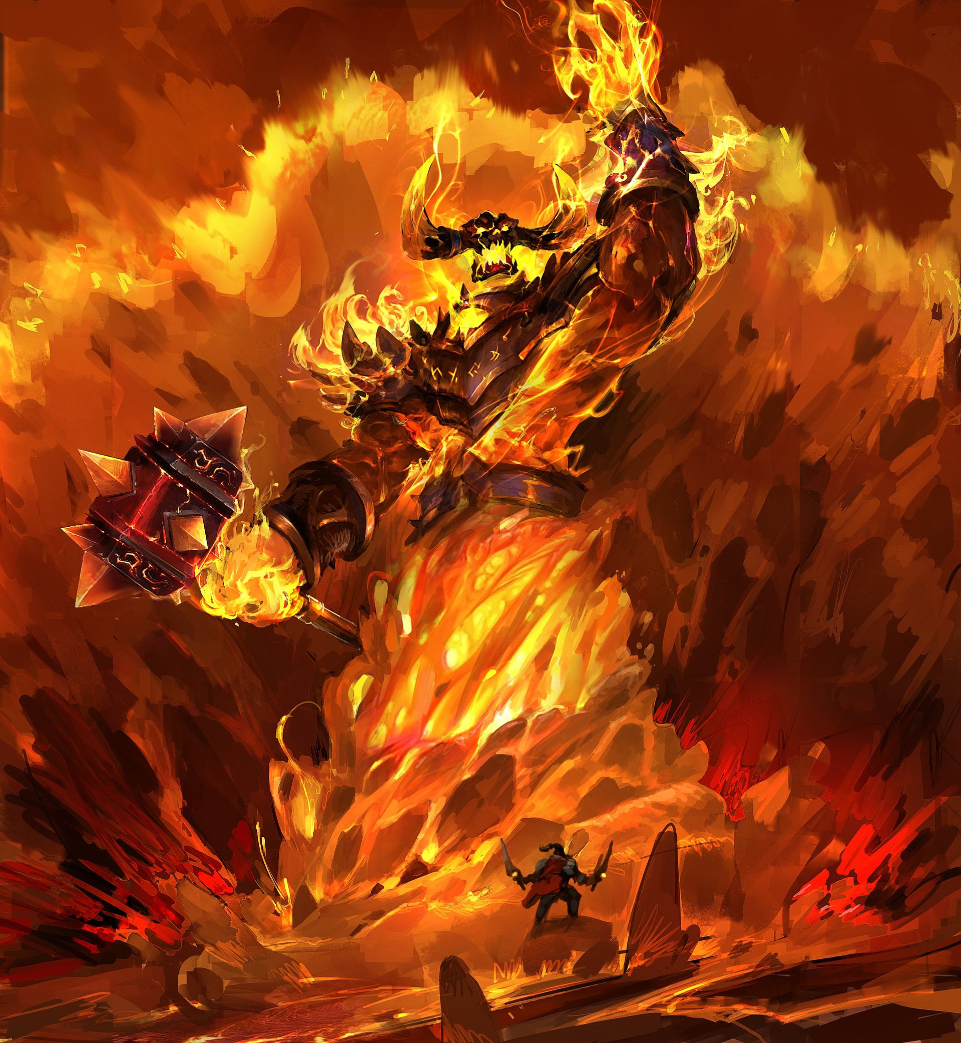 Car Art Wallpaper Artstation Ragnaros The Firelord Dante Liu