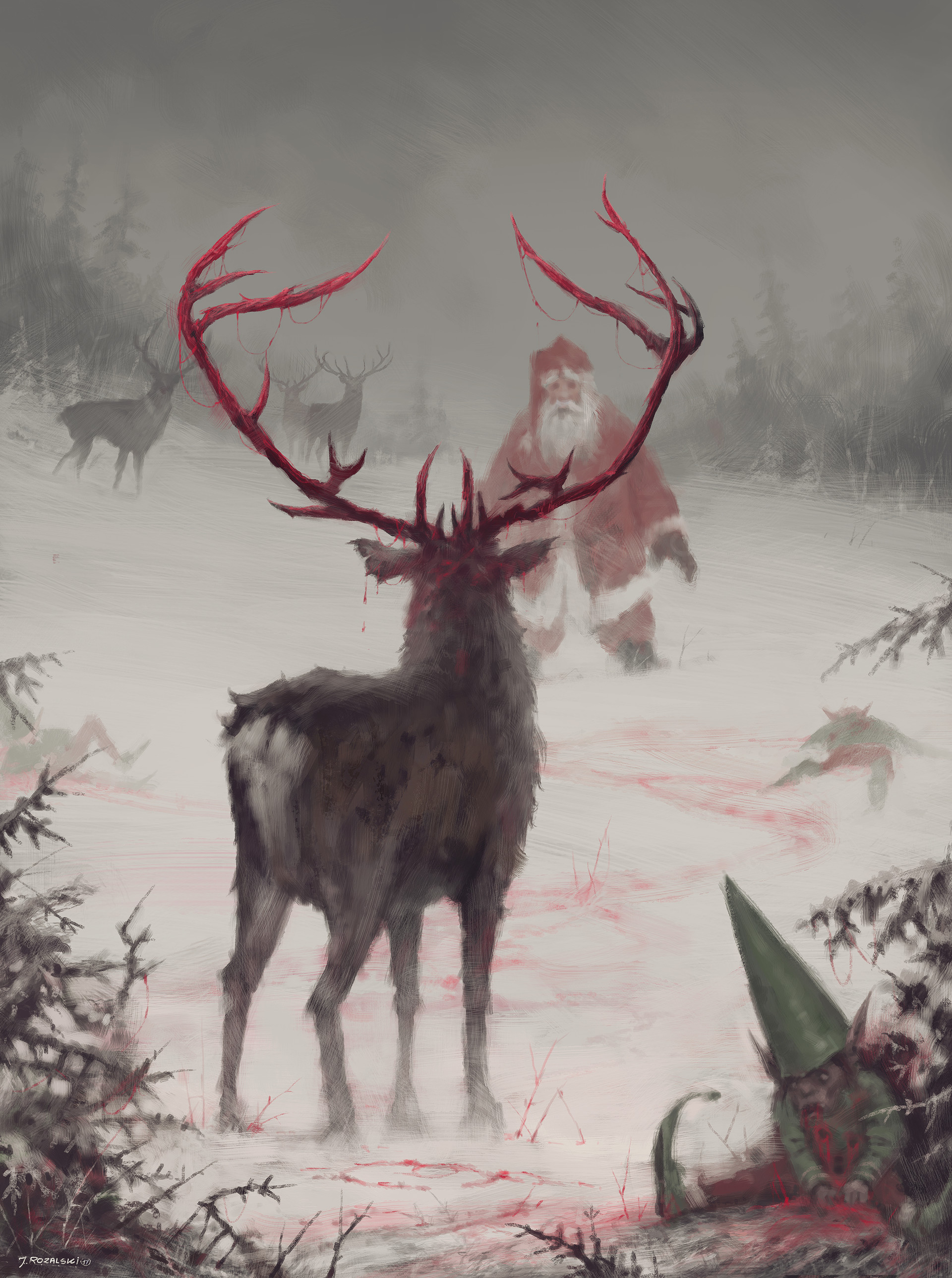 Winter Animal Wallpaper Artstation Rudolph Uprising Jakub Rozalski