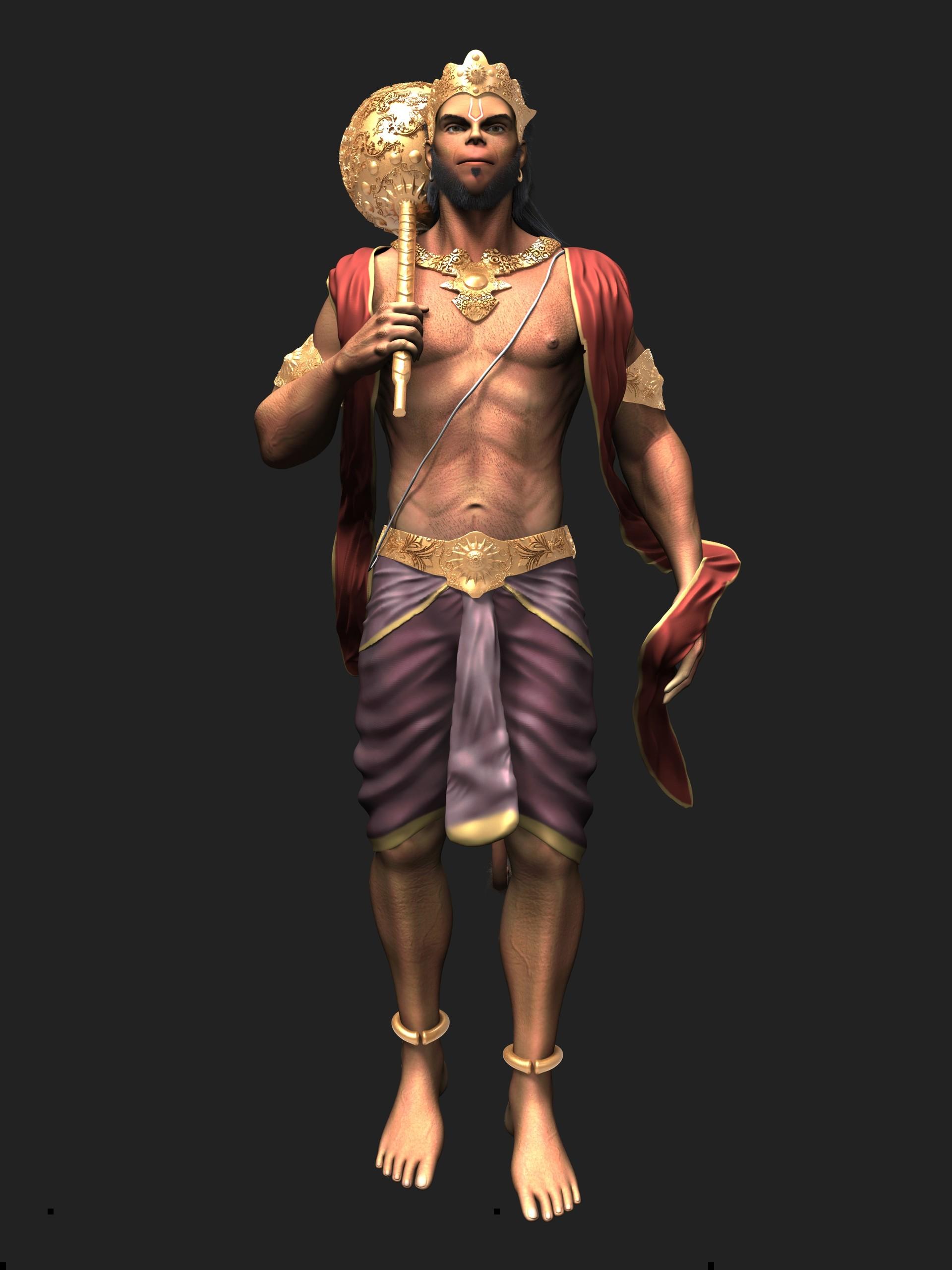 Ganpati 3d Wallpaper Artstation Hanuman Model Amol Kulkarni