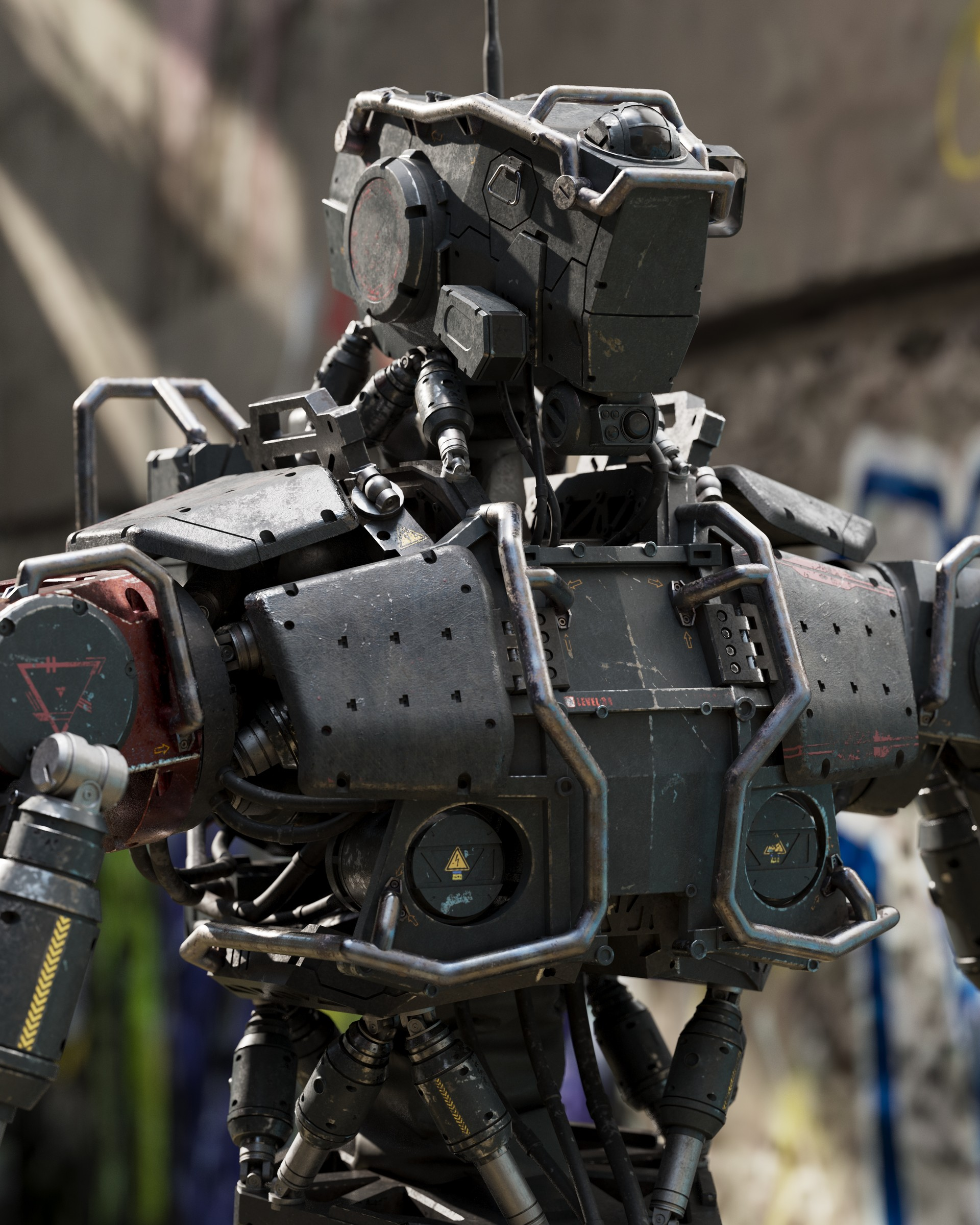 3d Wallpaper Avatar Artstation Robot Soldier Dusan Kovic