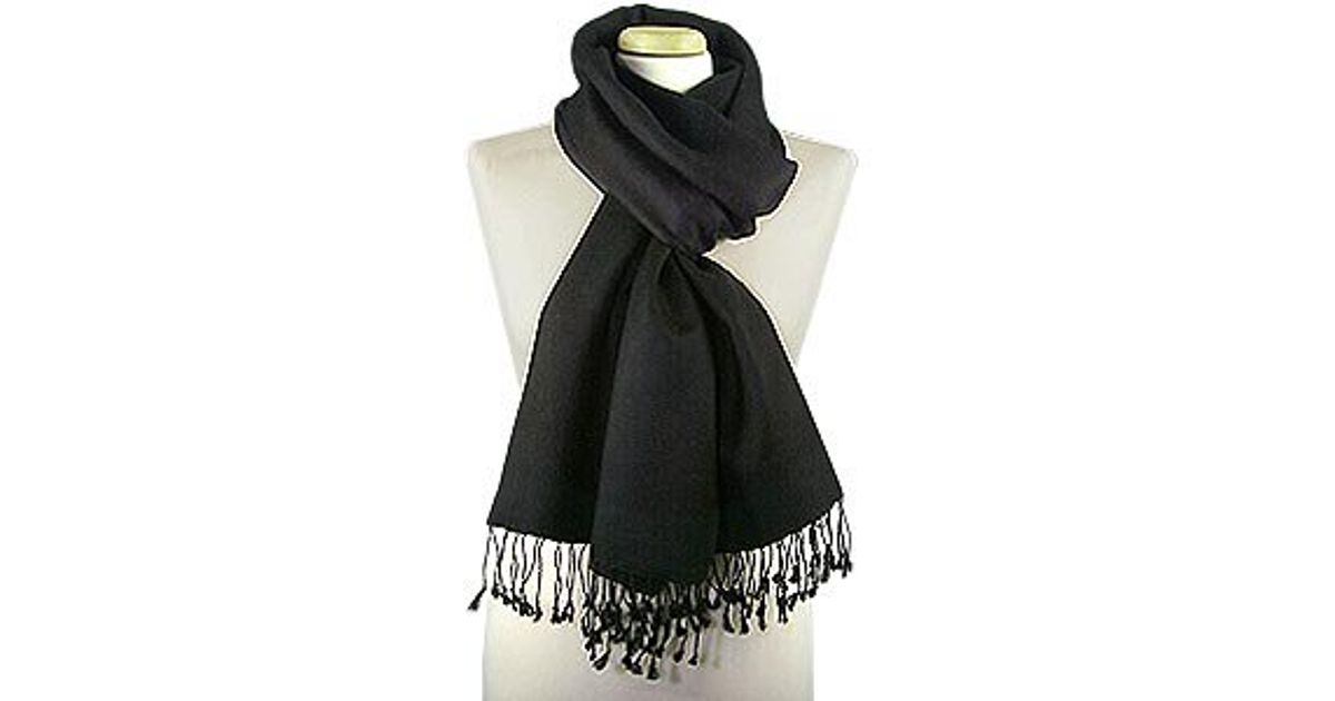 Basile Ombre Fringed Wool Cashmere Pashmina Shawl In Gray