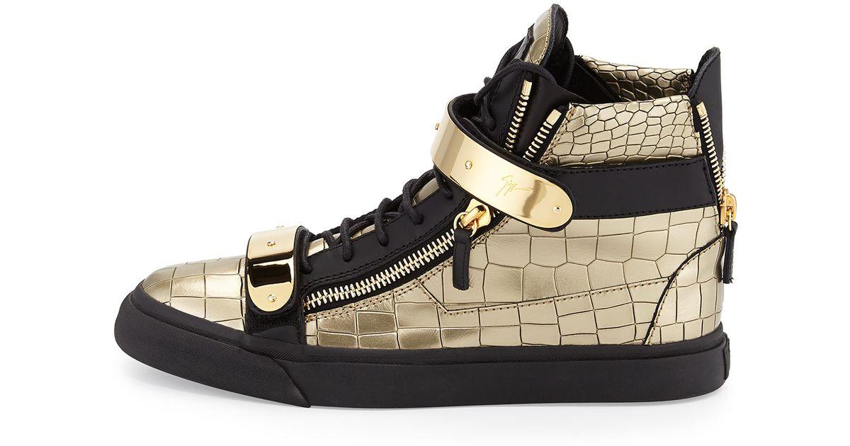 Lyst Giuseppe Zanotti Mens Faux Croc High Top Sneaker In