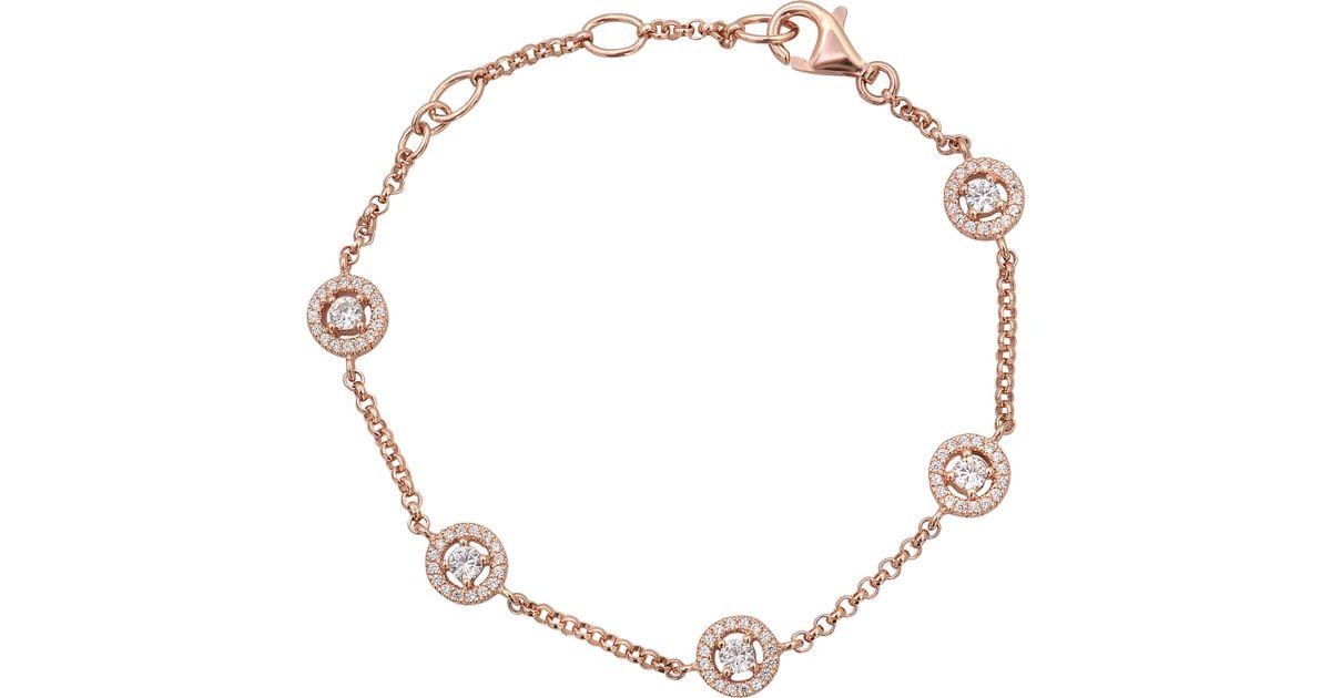 Lyst Thomas Sabo Eclat Sterling Silver Bracelet In Metallic