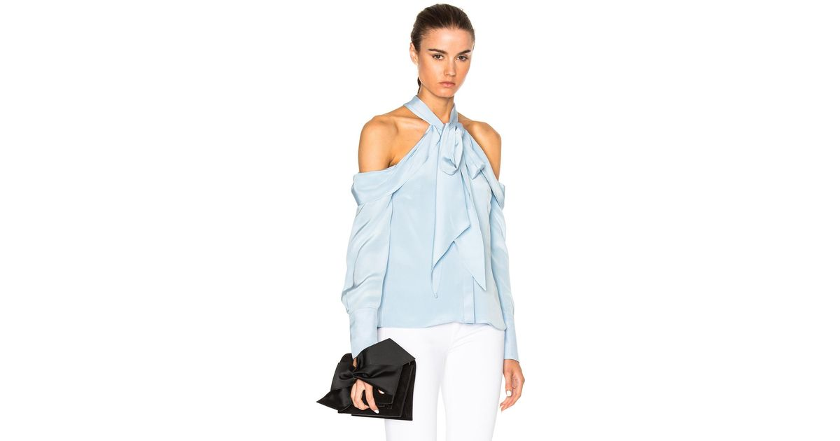 Erdem Alia Top In Blue Lyst
