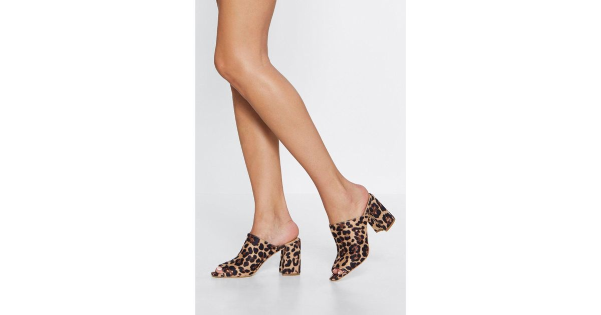 Nasty Gal Quotreally Put Your Foot In It Leopard Mulequot In
