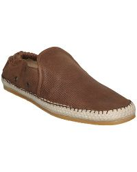 Dune fawkes leather espadrilles brown in brown for men lyst