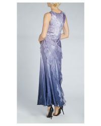 Komarov 2pc Long Gown/shawl Set in Blue