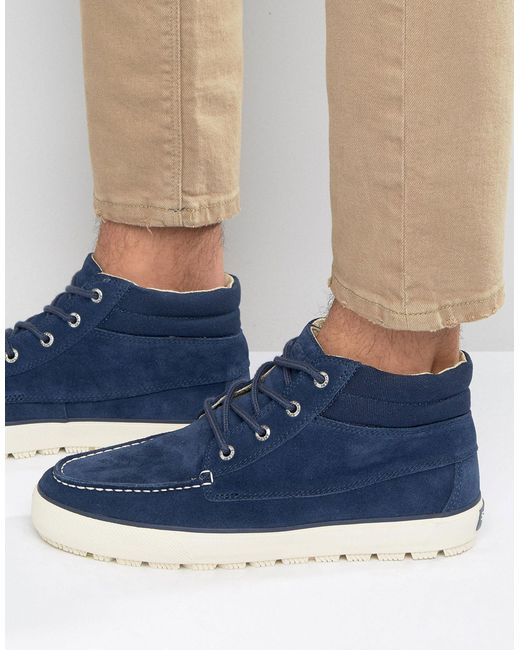 Sperry Top Sider Perry Bahama Lug Chukka Boots In Blue For
