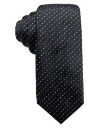 Lyst - Alfani Pindot Slim Silk Tie, Created For Macy's in ...