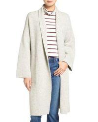 Madewell Shawl Collar Merino Wool Sweater Coat in ...