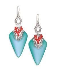 Alexis bittar Coral Deco Lucite, Crystal & Enamel Baguette ...