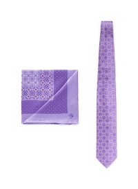 Lyst - Canali Floral Tie And Pocket Square Set in Purple ...