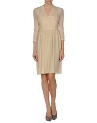 Fendi Short Dress in Beige | Lyst