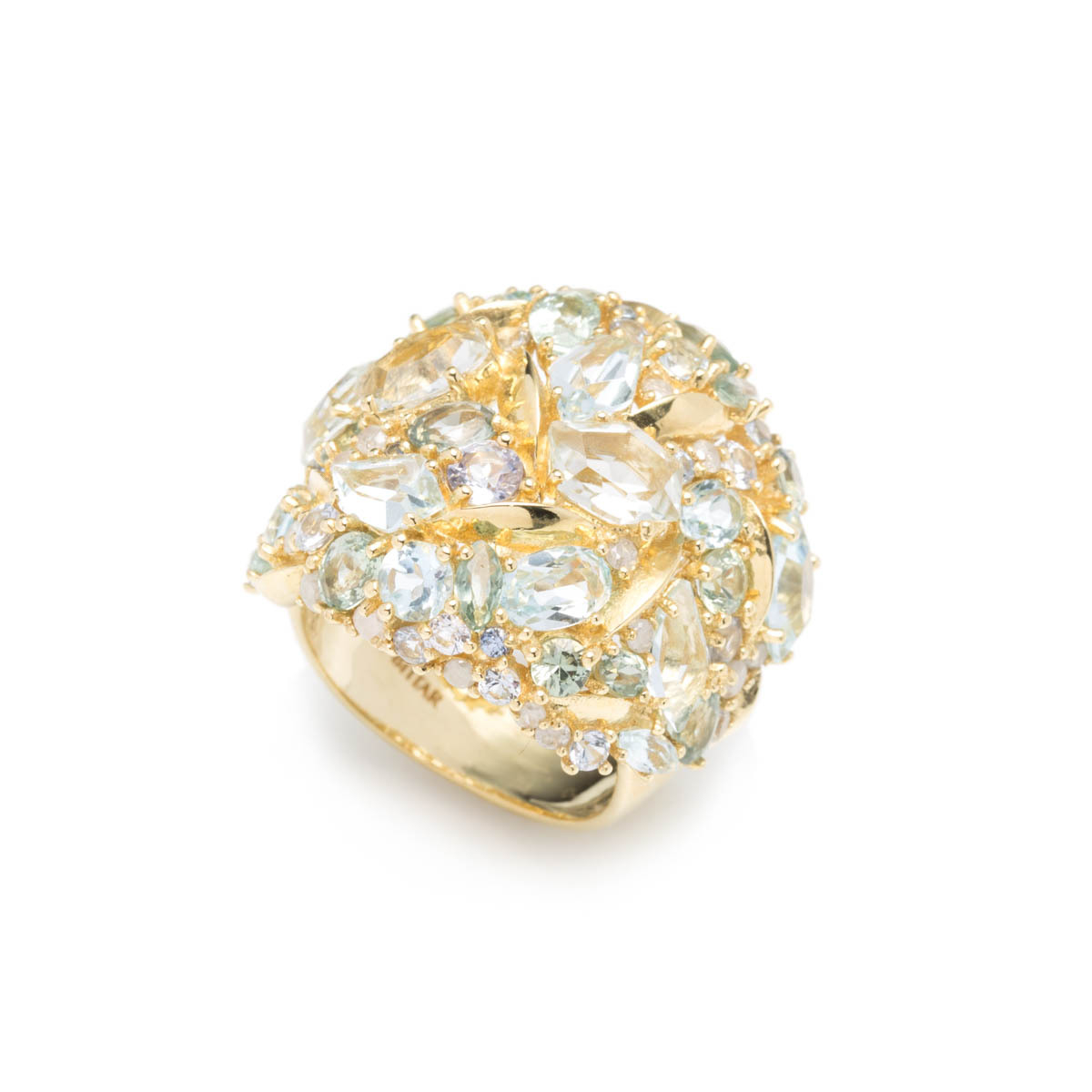 Alexis bittar Sandy Beach Marquis Cluster Dome Ring In 18k