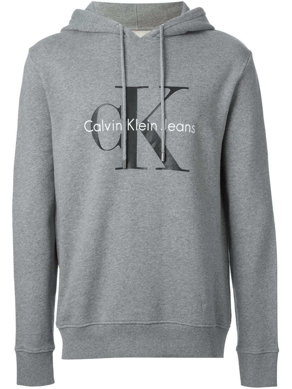 Nike Pullover Quarter Zip Calvin Klein Jeans Logo Print Hoodie In Gray For Men Grey