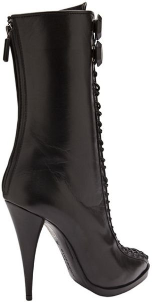 Givenchy Lace Up Boots In Black Lyst