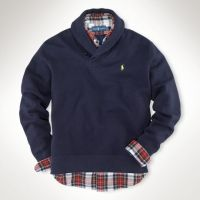 Polo Ralph Lauren Shawl-collar Fleece Pullover in Blue for ...