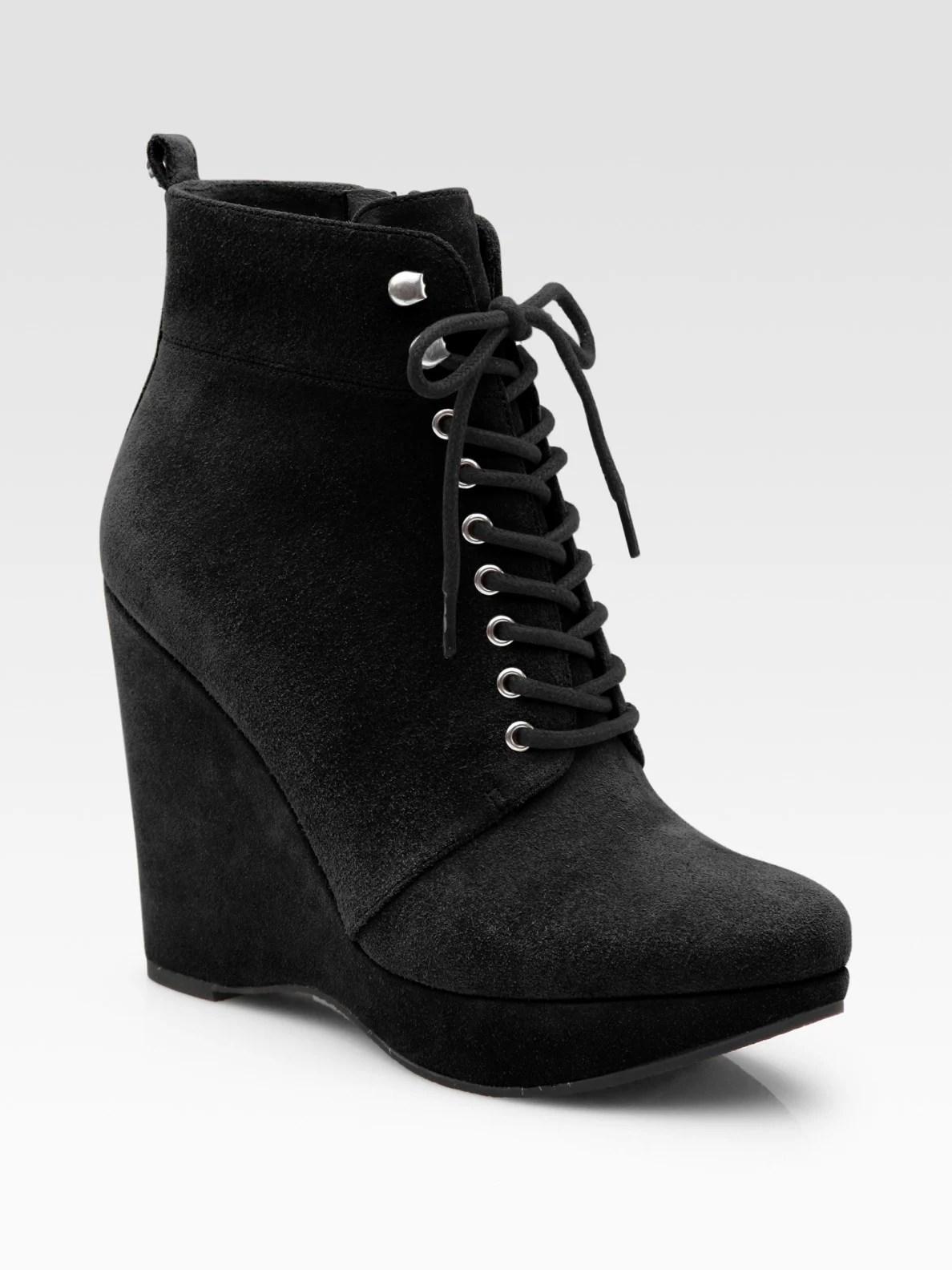 Michael Michael Kors Jada Suede Platform Wedge Ankle Boots