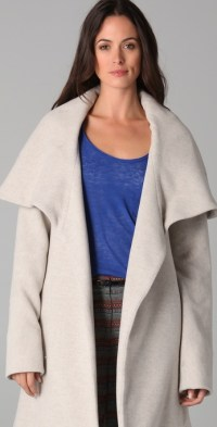 Lyst - Mara Hoffman Shawl Coat in Natural