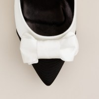 Lyst - J.Crew Black Tie Pumps in White