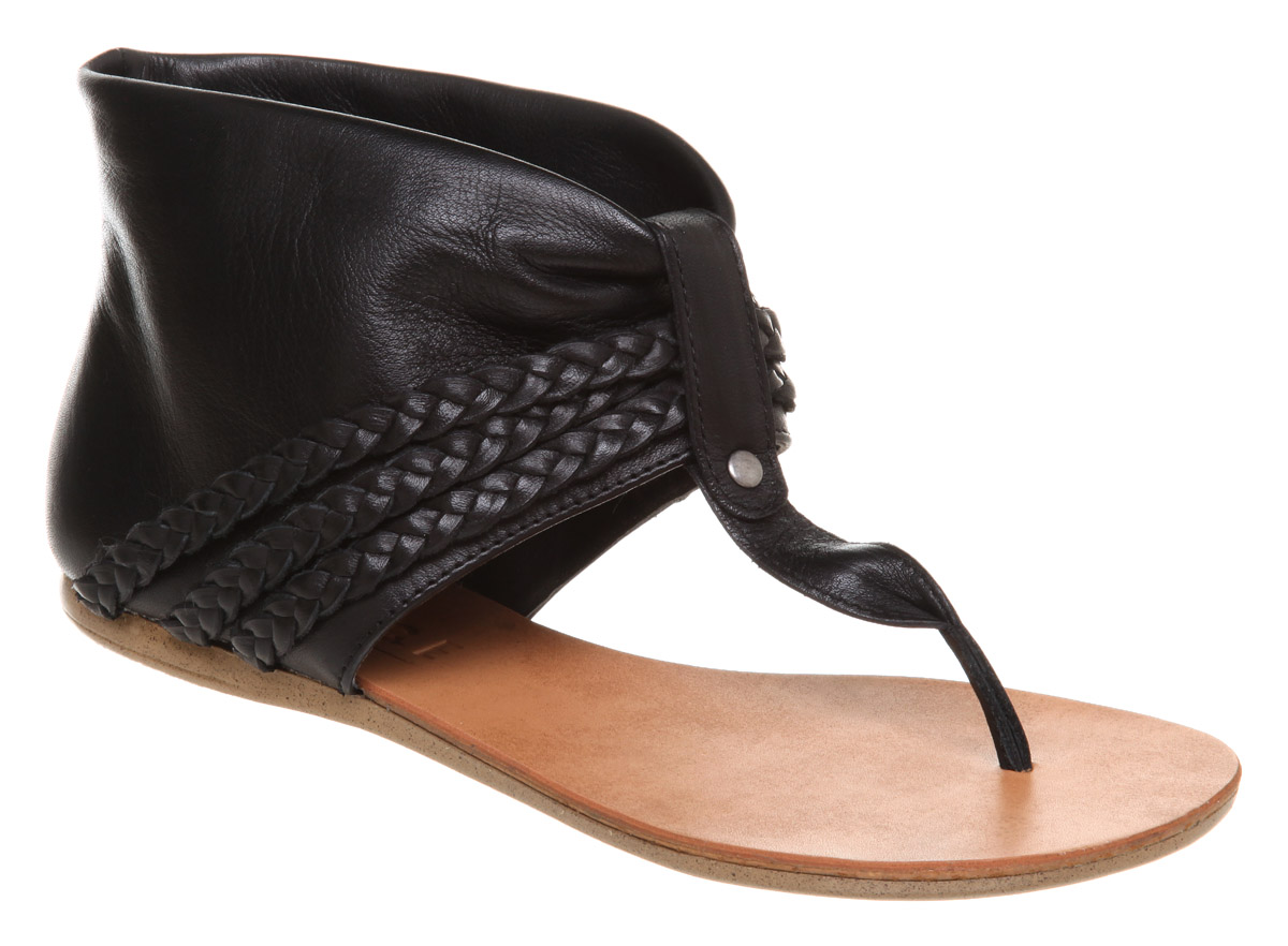 Office Neat Sandal Boot Black Leather In Black Lyst