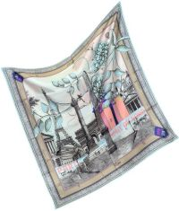 Christian Lacroix Paris Large Silk Square Scarf in Pink ...